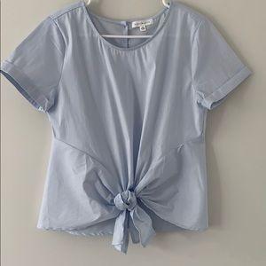 Nordstrom Socialite blue blouse M